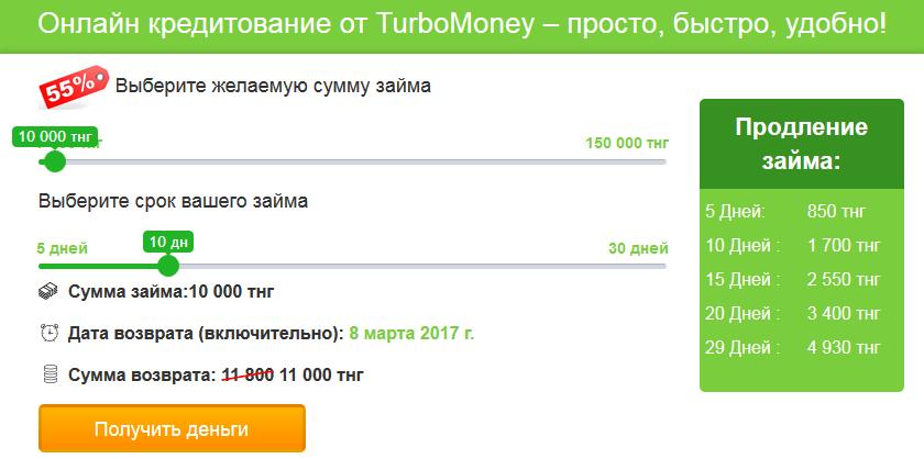 МФО TurboMoney в Казахстане
