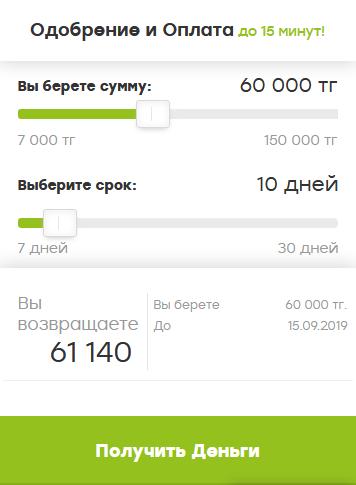 займ 150 000 тенге